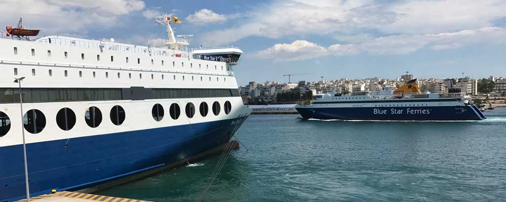 Blue Star Ferries Route Modification Update